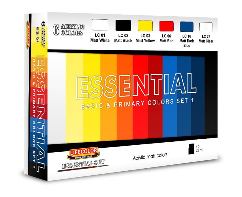 ES01 Lifecolor Essentials color set 1