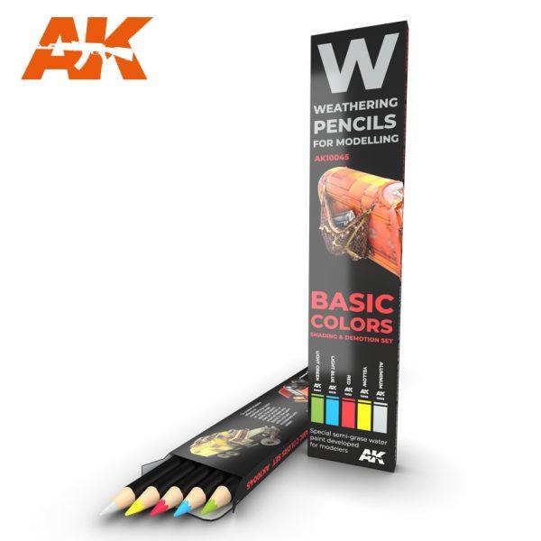 AK10045 Basic Colors Shading & Demotion set (5 Pecils)
