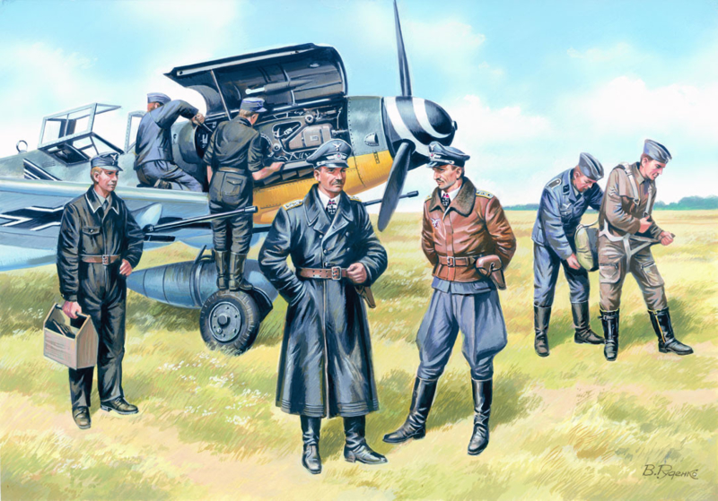 ICM48082 1:48 ICM  German Luftwaffe Pilots and Ground Personnel (1939-1945)