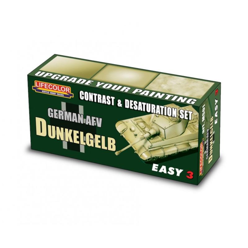 MS01 Lifecolor  Easy 3 Contrast and Desaturation Dunkelgelb German AFV
