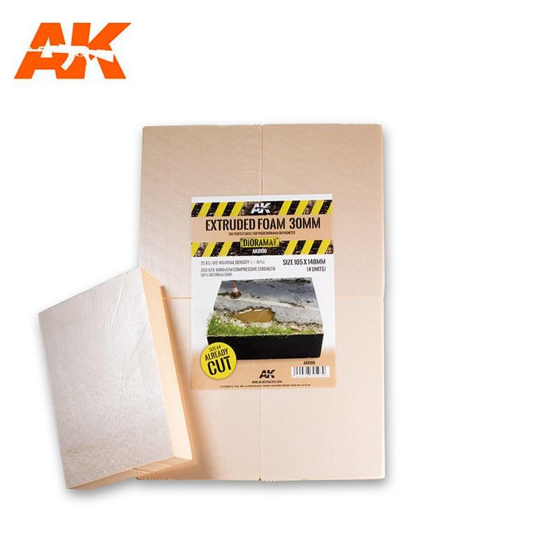 AK8100 Extruded Foam 30mm Size A4  precut in 4