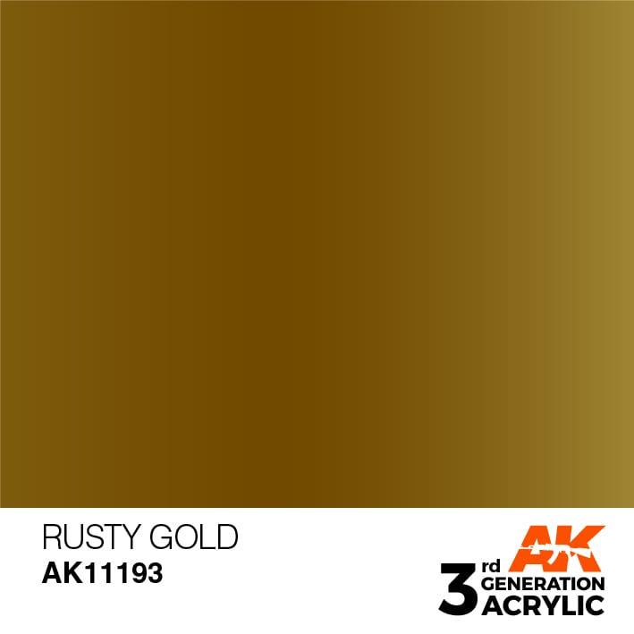 AK11193 RUSTY GOLD – METALLIC