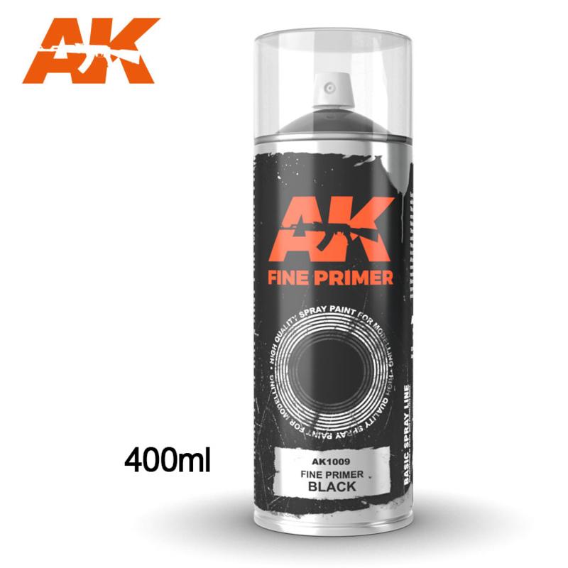 AK1009 Fine Primer Black Spray