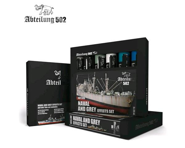 ABT306 Abteilung 502 Naval and Greys effects set (6 Oil Colors)