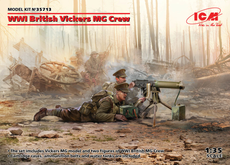 ICM35713 1:35 ICM WWI British Vickers MG Crew