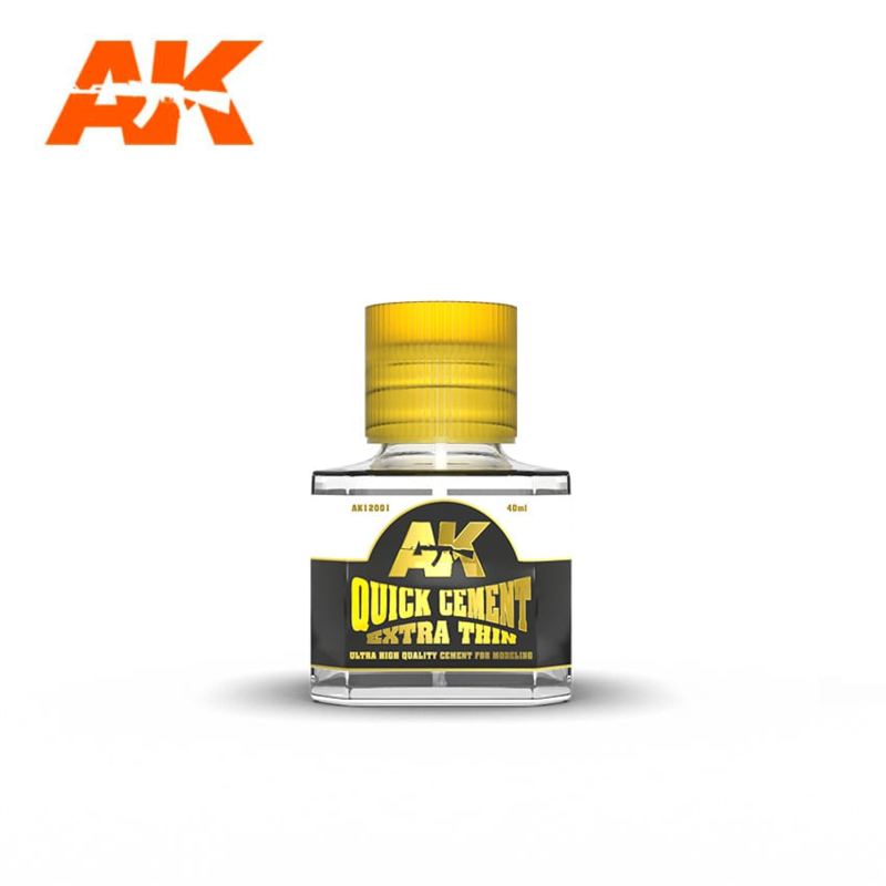 AK12001 Quick Cement Extra Thin glue 40ml (for Plastic)