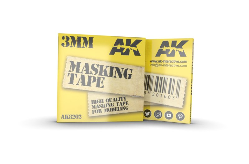 AK8202 Masking Tape 3 mm
