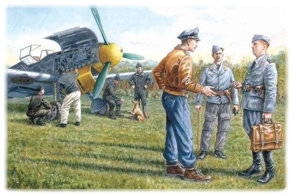 ICM48085 1:48 ICM German Luftwaffe Ground Personel 1939 - 1945