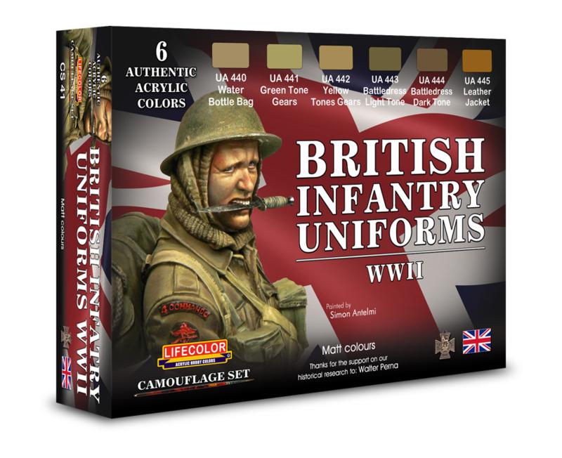 CS41 Lifecolor British Uniforms WWII ((This set contains 6