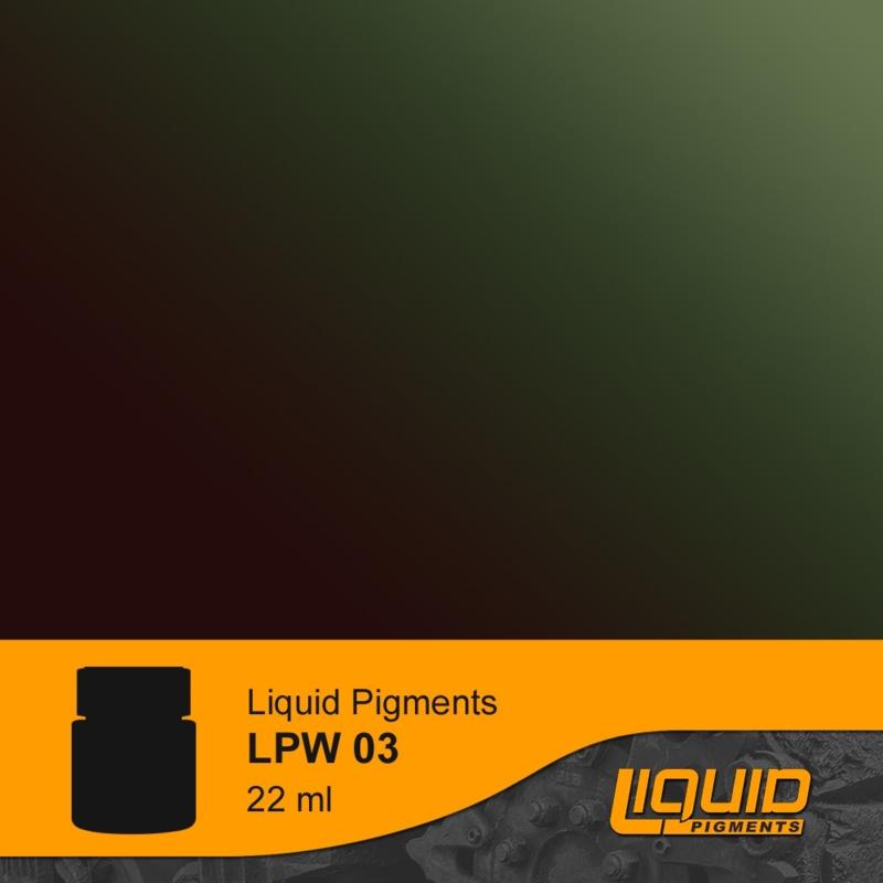 LPW03 Lifecolor Liquid pigments Burnt Olive Green 22ml