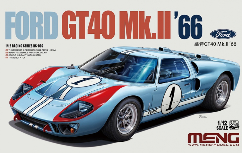 MNGRS-002  1:12 FORD GT40