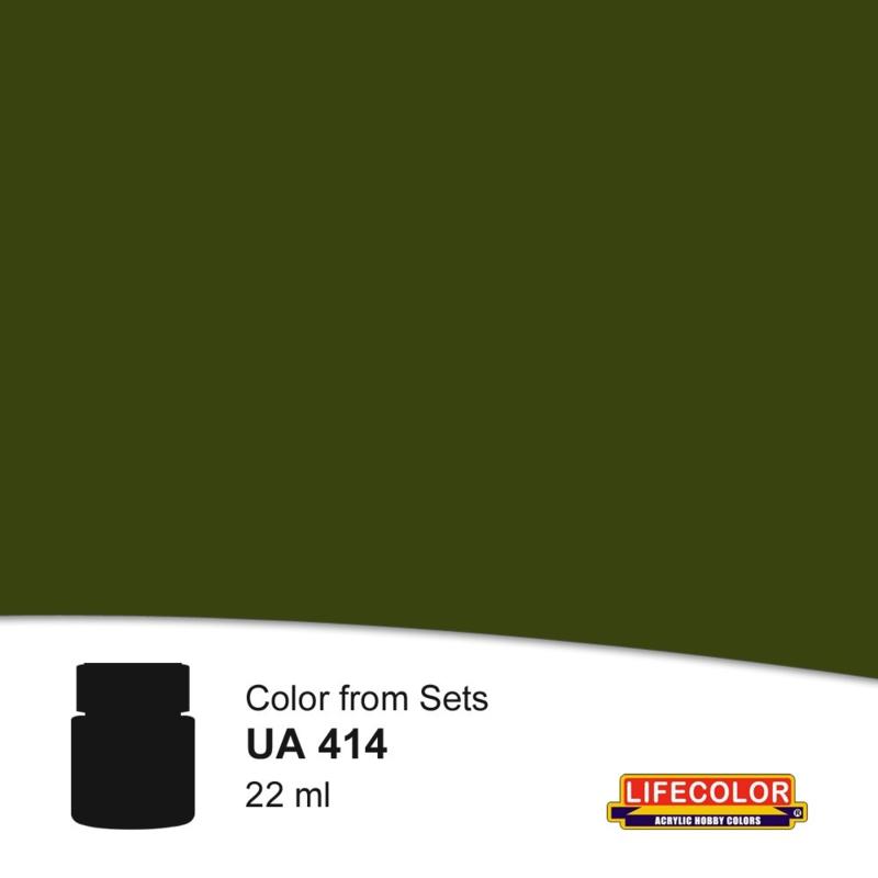 UA414  LifeColor Tela Grigio Verde (22ml)