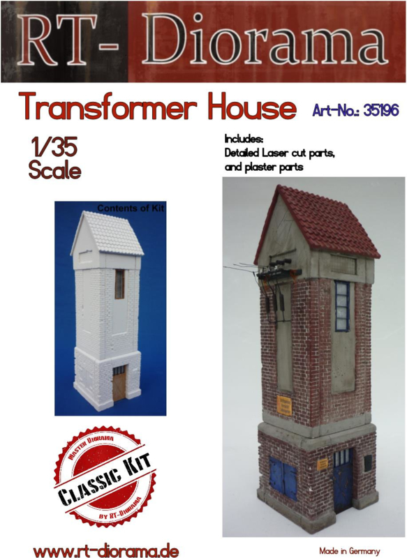 RT35196 1:35 RT-Diorama Transformer House Incl. lasered windows and doors!