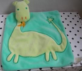 Knuffeldoekje dinosaurus groen | Difrax