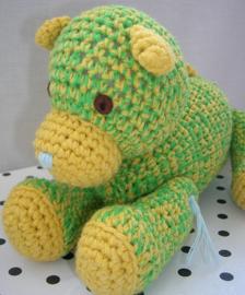 Knuffel hond Bengels groen/geel | Happy Horse