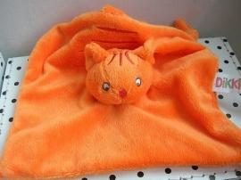 Dikkie Dik kater knuffeldoekje oranje | Happy Horse