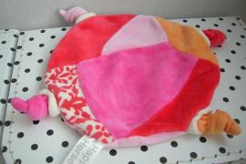 Schildpad Pink Telly knuffeldoekje roze | Happy Horse
