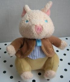 Peter Rabbit  knuffel rammelaar Pigling Bland varken | Augusta du Bay