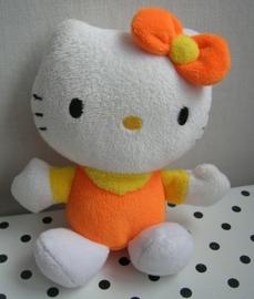 Hello Kitty knuffel oranje/geel | Sanrio