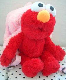Sesamstraat Elmo knuffel rugzak rugtas