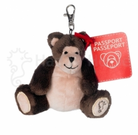 ID beer knuffel sleutelhanger met paspoort | Happy Horse