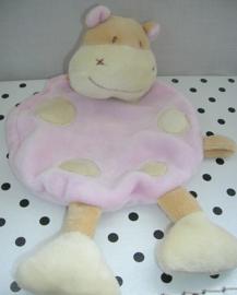 Knuffeldoekje nijlpaard Hippopotames roze | Fehn Baby