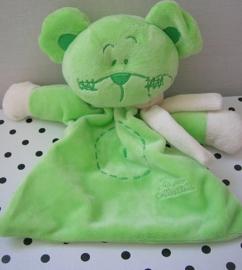 Muis Mandy knuffeldoekje groen | Tiamo