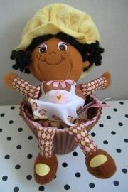 Little Miss Muffin knuffel popje bruin
