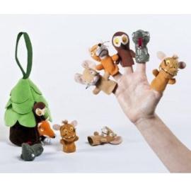 Vingerpopjes van de Gruffalo in knuffel boom | Aurora