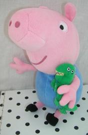 Peppa Pig George knuffel  met dinosaurus   TY