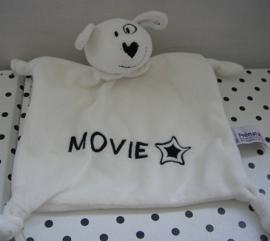 Hond knuffeldoek Movie wit/zwart | Prenatal