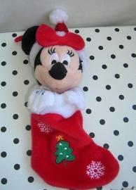 Disney Minnie Mouse knuffel met kerstsok/laars | Eurodisney