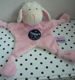 Schaap knuffeldoekje roze met sterrenbeeld Kreeft | Sigikid