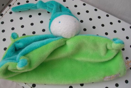 Knuffeldoek softdoek groen klein model | Difrax