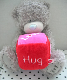Beer knuffel met blok Love-Kiss-Hug | Me to You