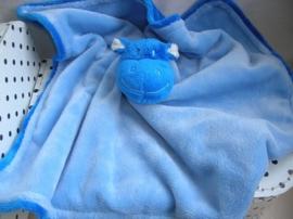 Nijlpaard knuffeldoek blauw | Agis Natalis