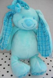 Konijn knuffel Basic Bunny blauw met muziekdoosje | Tiamo