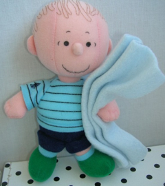 Linus knuffel pop met dekentje   Peanuts Snoopy
