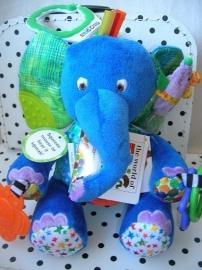 Rupsje Nooitgenoeg olifant knuffel blauw | Eric Carle