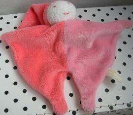 Knuffeldoekje pierrot harlekijn roze | Difrax