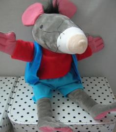 Rat handpop knuffel van Kikker & Vriendjes | Max Velthuijs
