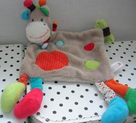 Giraffe Zoe knuffeldoek   Nicotoy