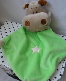 Nijlpaard knuffeldoek groen| Evora