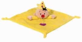 Bumba het clowntje knuffeldoekje geel plat neusje | Studio 100