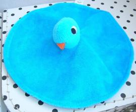 Knuffeldoekje vogel blauw | Imagebooks