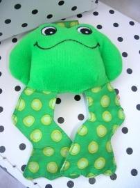 Kikker knuffel rammelaar groen | Lego