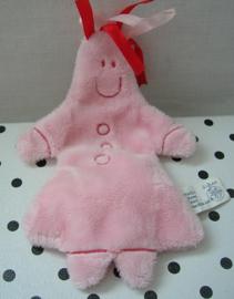 Knisperdoekje knuffeldoekje popje roze | Difrax