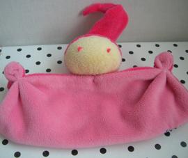 Knuffeldoek softdoek roze klein model | Difrax