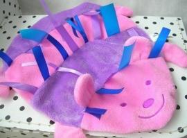 Egel knuffeldoekje roze plat | Difrax