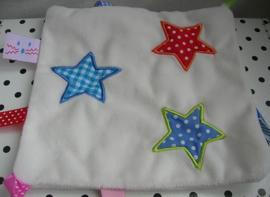 Knuffeldoekje  labels wit met sterren | Hema